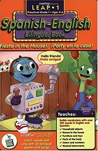 First Größe LeapPad Book - Fiesta in the House  Spanish-English Bilingual Book and Cartridge that are only for the Original Leappad learning system, not compatible with the Leappad Explorer Tablet.