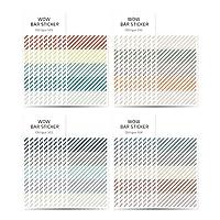 モノライク ワウ バー ステッカー オブリーク セット Wow Bar Sticker Oblique set - 可愛いステッカー、ダイアリーデコ、ミニスティッカー、ステッカーセット