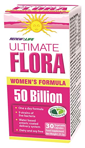 Renew Life Ultimate Flora Everyday Women - 50 Billion Bacteria - 10 Strains - 1 Bottle x 30 Vegetable Capsules
