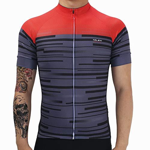 Freemy fietspak, sneldrogend, mountainbikes, racefietsen, downhill-fietskleding, zweeteffecten, zwart-rode Xs-mantel