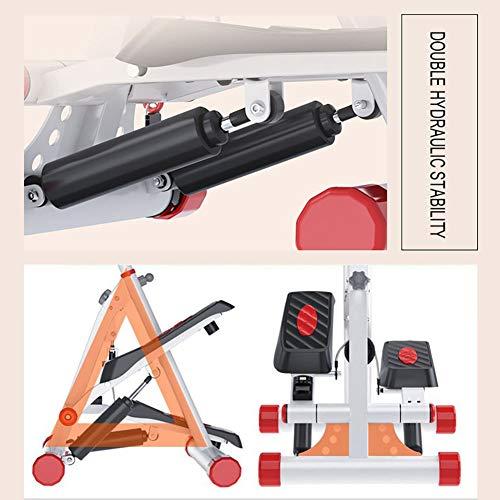 Tensism Foldable Stepper,Adjustable Armrest Stepper,Multi-Function Stepper,Sports Weight-Loss Hydraulic Stepper,Fitness Equipment B 1
