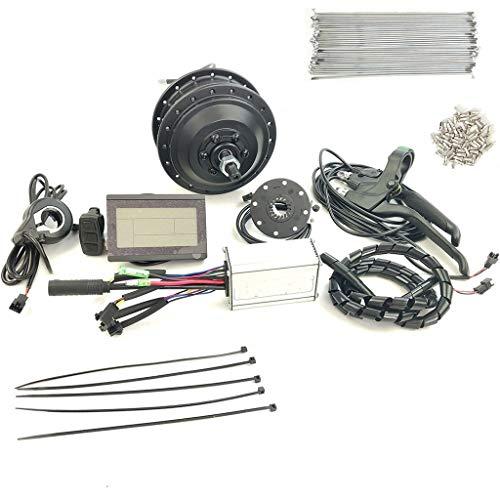 ZLM Elektro-Umrüstsatz Elektro-Fahrrad Umbausatz Vorderrad 36V350W Hinterrad Motor Elektromotor-Controller Mit KTLCD3,16inch LCD Sets