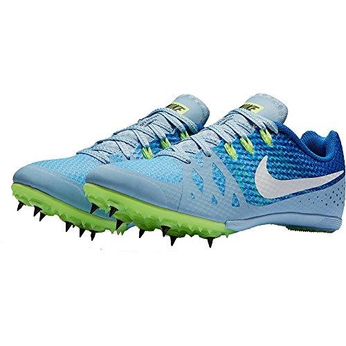 Nike Women's Zoom Rival M 8 Blue Running Track Field Spike Shoe Cleats (Women's 10)
