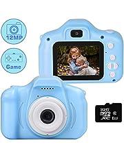 """le-idea Cámara para niños Cámara de Fotos Digital 2 Objetivos Selfie 12MP Cámara Digital 1080P HD Video cámaras para Niños Niñas con Zoom Digital 4X , 2"""" IPS, Tarjeta de Memoria de 32GB incluida"""
