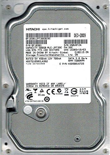Hitachi HDS721050CLA362P/N: 0F10381MLC: jpt39C 500GB