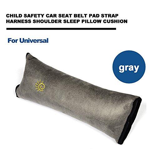 TGFOF UKCW-0257 Kinder Auto Schulterkissen Sicherheitsgurt Polster Baby Grau