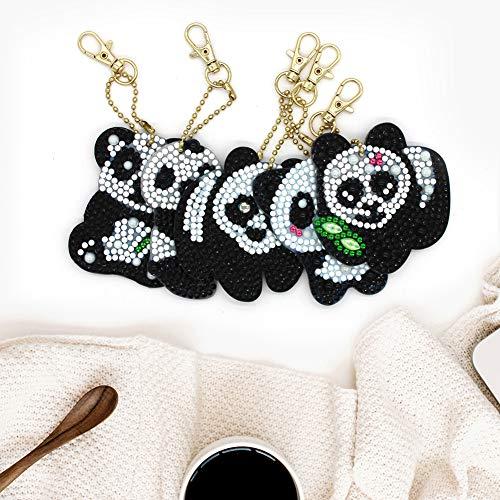 OUYAWEI Home Voor 5 Stks/Set Hond/Panda Vorm Diamant Schilderen Sleutelhanger Hangende Hanger Kaarten voor Kinderen