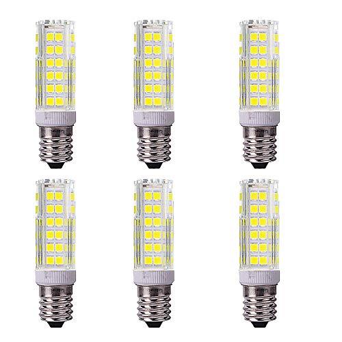 OUGEER 6 bombillas LED Brine E14, 9 W, luz blanca fría, 6000 K, CA 220 – 240 V, 900 lúmenes, no regulable, bombillas Edison E14, repuesto de bombilla halógena de 90 W