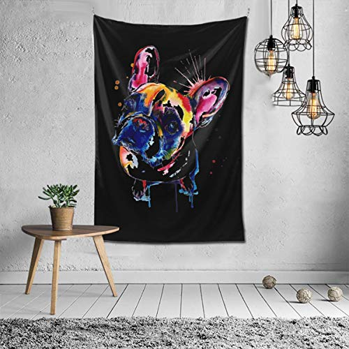 NOT Cute Funny French Bulldog Tapestry Wall Hanging Tapestries Wall Blanket Wall Art for Living Room Bedroom Home Decor 6040inch