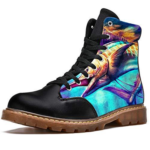 Bennigiry Sailfish Jumping Painting Botas de Invierno Zapatos...