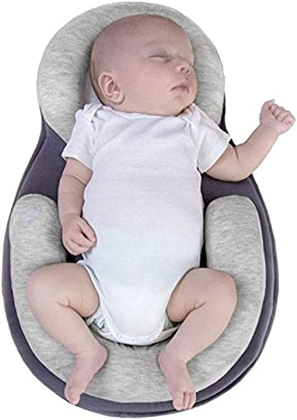 Baby Stereotypes Pillow Infant Newborn Anti Rollover Mattress Pillow For 0 12 Months Baby Sleep Positioning Grey