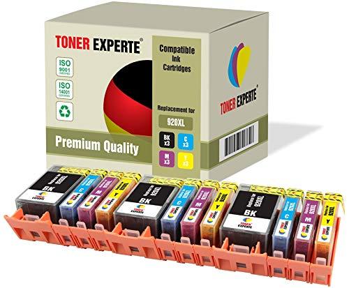Pack de 12 XL TONER EXPERTE® Compatibles con HP 920XL 920 XL Cartuchos de Tinta para HP Officejet 6000, 6500, 6500A, 7000, 7500A (3 Negro, 3 Cian, 3 Magenta, 3 Negro)