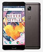 OnePlus 3T A3010 128GB Dual Sim Gunmetal Gray Factory Unlocked International Model No Warranty GSM (no Sprint or Verizon)