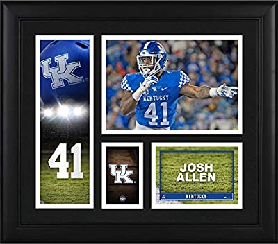 """Josh Allen Kentucky Wildcats Framed 15"""" x 17"""" Player Collage - College Player Plaques and Collages"""