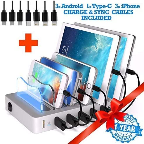 TIMSTOOL 6 USB Charging Station For Devices Multiple Spring new work - Buzz 5 ☆ very popular -No