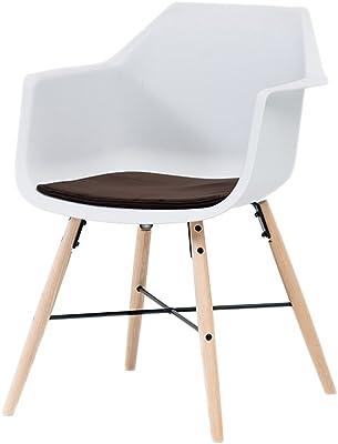 LC-Sillas Sillón de Oficina Moderno Minimalista Silla de Madera Maciza (Color : B