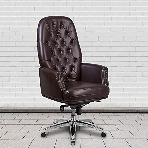 Flash Furniture Tufted Brown LeatherSoft Executive Chair