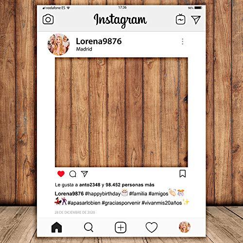 setecientosgramos Photocall Instagram | 70x100 | Ventana Instagram | Marco Instagram | PhotoBooth Instagram (Cartón 4mm)