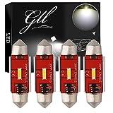 GLL 39MM C5W LED Canbus CSP 1860-1SMD 650 Lúmenes Para Automóviles Luces LED Bombillas Luz de Matrícula Luz de Estacionamiento Luz Interior Luz del Maletero Luz de Techo (Paquete de 4)