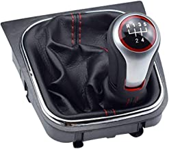 TRULIL - Kit de Palanca de Cambios de 5 velocidades para Coche, Manual, Cambio de Marchas, Cubierta de Repuesto con Funda de Polvo para VW Volkswagen Golf 6 MK5 MK6