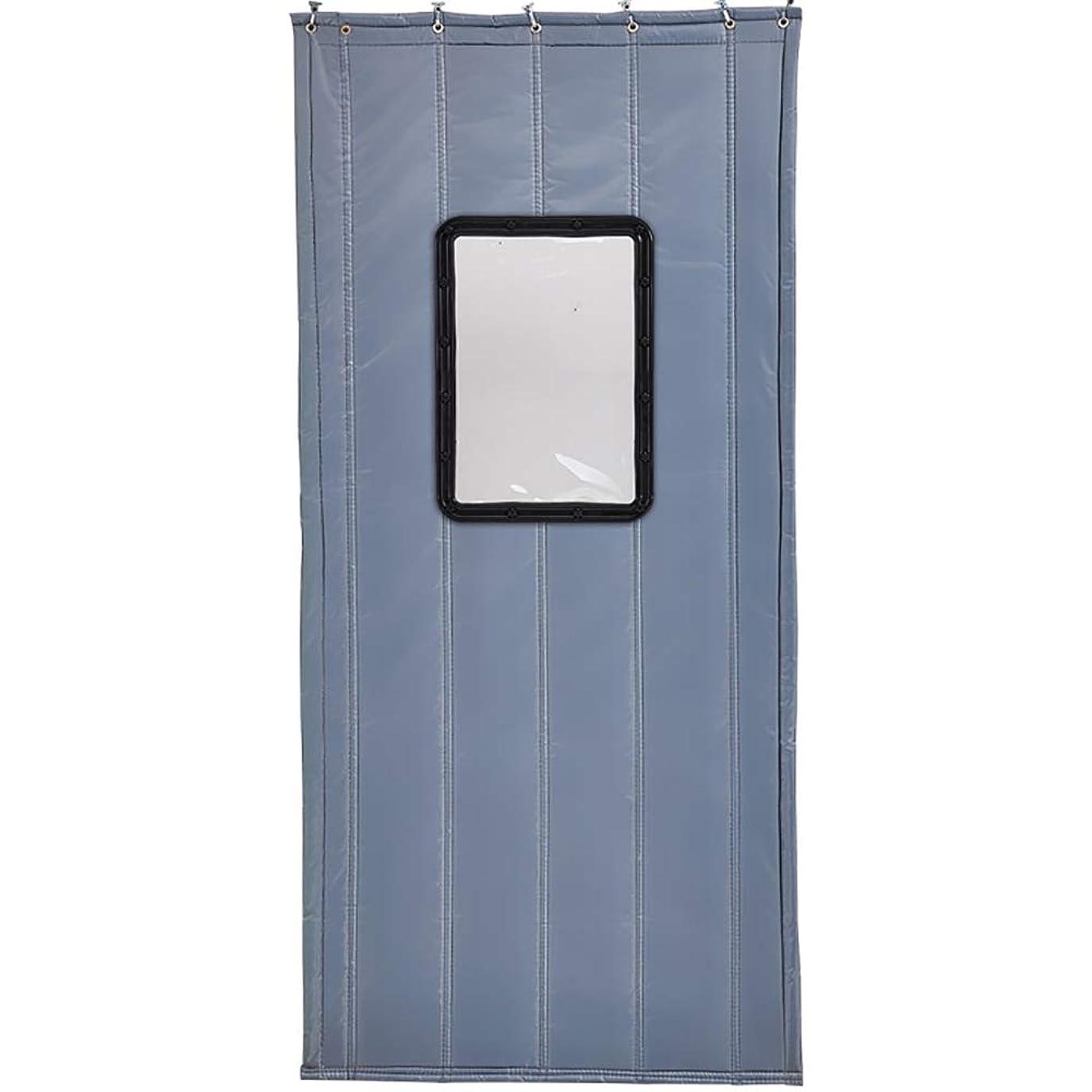 能力糸従順なGUOWEI ドアカーテン 断熱 サーマル 防風 トランスペアレント 窓 エントランス カスタマイズ可能、 2色、35サイズ (色 : Gray, サイズ さいず : 130x210cm)