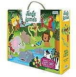 Jungle animals. Ediz. a colori. Con puzzle (Sassi junior)
