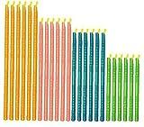 Hotaden Palillos Reutilizables sellador de Bolsas de Diferentes tamaños, Clips de Alimentos sellador de Bolsas, Accesorios de Cocina de Almacenamiento (Sticks 24pc)