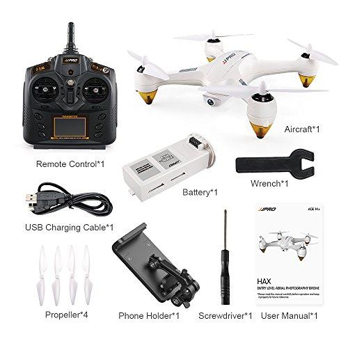 XuBa JJ/RC JJPRO X3 HAX Cuadricóptero RC Dron Doble Modo WiFi FPV GPS Cuadricóptero RC Drones de Juguete con cámara HD 1080P RTF sin escobillas 1 batería