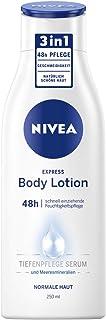 NIVEA Express Body Lotion (250 ml), bardzo szybko wchłaniający się balsam do ciała, formuła 3 w 1: 48 h pielęgnacja, gładk...