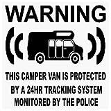 6x furgoneta maniquí/Fake GPS–black-tracking sistema de dispositivo unidad–Caravana alarma de seguridad advertencia pegatinas para ventana–Policía Monitored vinilo señal