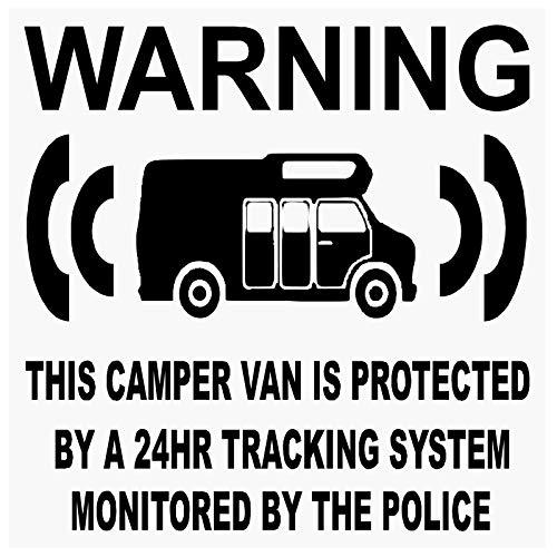 6x furgoneta maniquí Fake GPS–black-tracking sistema de dispositivo unidad–Caravana alarma de seguridad advertencia pegatinas para ventana–Policía Monitored vinilo señal