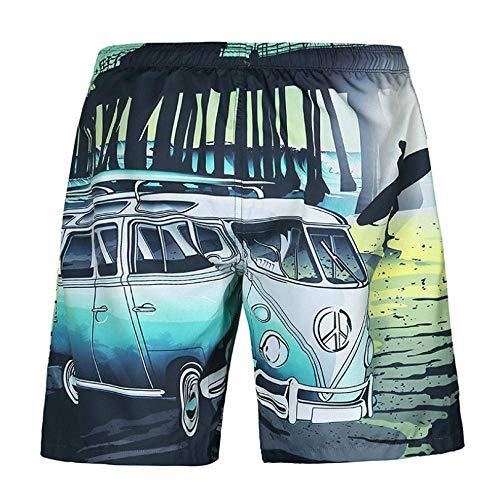 Mannen broek 2020 nieuwe mannen strand broek los casual mannen strand broek gedrukt mesh shorts (Size : XXL)