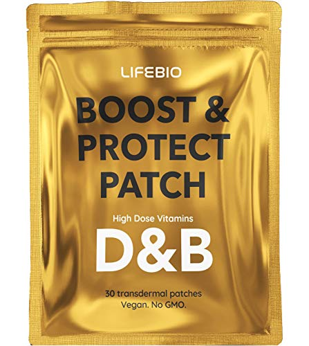 High Strength Vitamin D3 4000 IU & B12 3MG Transdermal Patches - 30 Daily Patches - Vegan