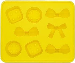 《モモミュゼット》シリコンモールド リボン&ボタンモチーフ レジン 石膏 アロマストーン 手作り 石鹸 キャンドル 樹脂 粘土 型 抜き型 MD-110067
