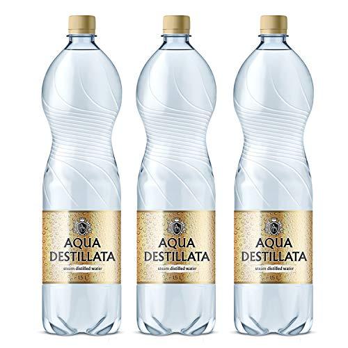 Distilled Water 4.5 L (3 Bottles x 1.5 L) 100% Pure Steam Distilled Water Medical Grade Food Grade TDS 000 ppm BPA Free