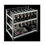 14/19-GPUマイナーマイニングケースアルミニウムマイニングフレームスタッカブルマイニングリグオープンエアフレームケース、マイニングリグケースフレーム、マイニングリグフレーム、スチールコインオープンエアマイニングフレームリグケースクライプトコイン,通貨マイニングのための最大 19 GPU,14gpu