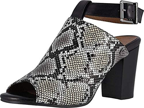 Vionic Women's Perk Kaia Heel - Ladies Peep Bootie Stacked Heels with Concealed Orthotic Support