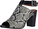 Vionic Women's Perk Kaia Heel - Ladies Peep Bootie Stacked Heels with Concealed Orthotic Support Natural Snake 7 W US