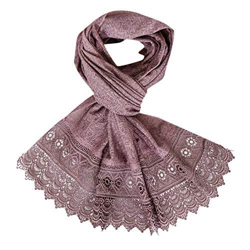 MYTJG Lady sjaal mode vrouwen nationale wind sjaal elegante eenkleurige hals vrouwelijke strand sjaal hoofdtooi comfortabel