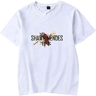 d6af746325c02 OLIPHEE Shawn Mendes Femme T-Shirt à Manches Courtes Top d'Eté