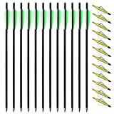 TOPARCHERY 12pcs 20inch Carbon Crossbow Arrows Crossbow Bolts with...