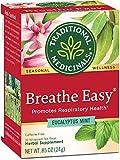 Traditional Medicinals Organic Breathe Easy Seasonal Tea, 16 Tea Bags (Pack of 6)