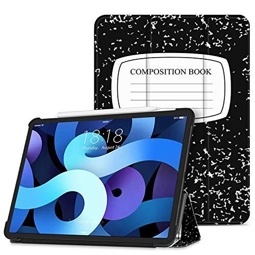 TNP Funda Compatible con iPad Air 4th 10,9 Pulgadas 2020 (A2324 A2072 A2316 A2325), Carcasa Protectora Delgada con Función de Soporte y Auto-Sueño, Estuche para Tabletas (Libreta de Composición)