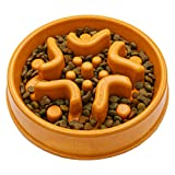 Simply Pets Online Bamboo Slow Feeder Dog Bowl - Designed by UK Vets - Eco...