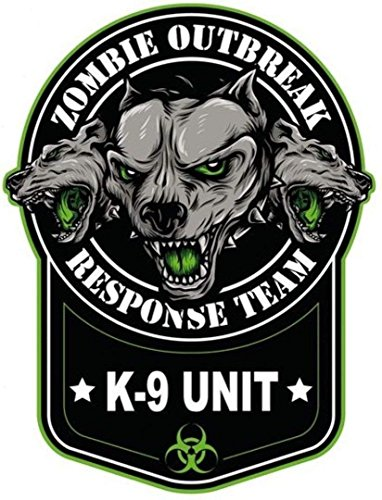 MFX Design Zombie Outbreak K9 Unit Laptop Sticker Decal Toolbox Sticker Decal Bumper Sticker Decal Vinyl - Made in USA 4 in. x 3.15 in.