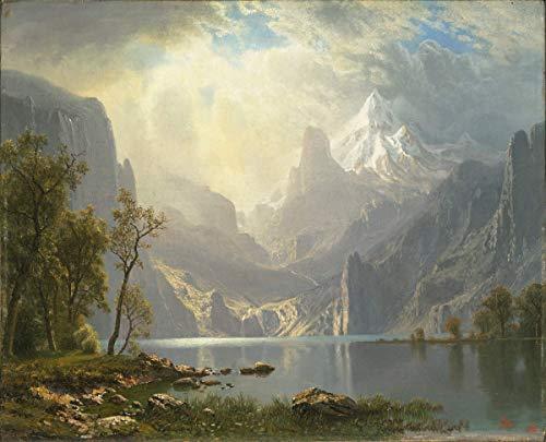 Albert Bierstadt Giclée Leinwand Prints Gemälde Poster Reproduktion (In den Sierras)