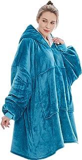 Oversized Hoodie Sweatshirt Winter Women Giant Hoodie Coat Soft Blanket with Sleeve Warm Robe Fleece TV Blanket Hoodies Women