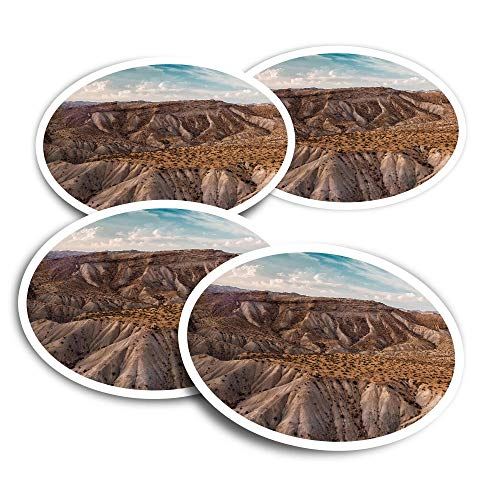 Vinyl Stickers (Set of 2) 10cm - Sierra Alhamilla Mountains Spain Travel Fun Decals for Laptops,Tablets,Luggage,Scrap Booking,Fridges #24190