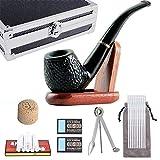 FeelGlad Pfeife, Premium Tabakpfeifen Set,Einschlie lich Reines Schwarz tabakpfeife und Andere Pfeifen Zubeh