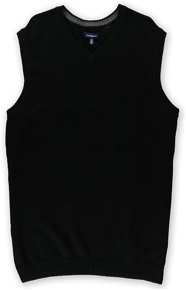 Croft&Barrow Mens Classic Signature Sweater Vest, Black, MT